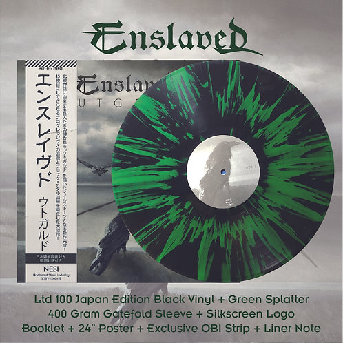 Enslaved - Utgard Ltd 100 Japan Version Black Vinyl + Grey Splatter