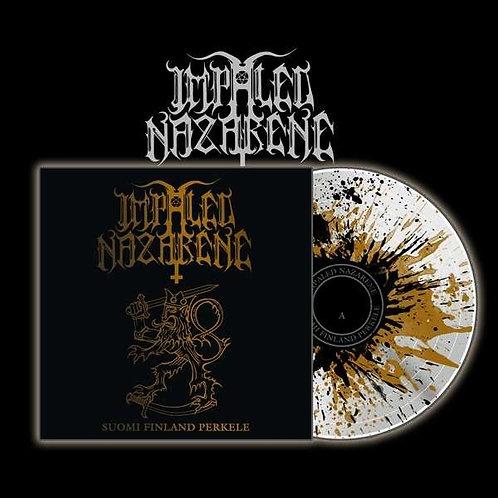 Impaled Nazarene - Suomi Finland Perkele White Splatter Vinyl LP