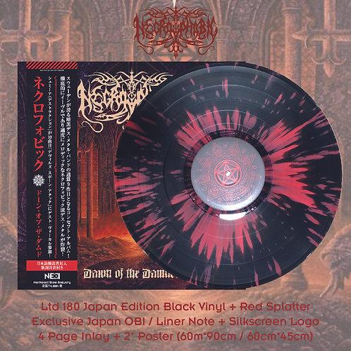 Necrophobic - Dawn of the Damned Ltd 180 Japan Version Black +Red Splatter Vinyl