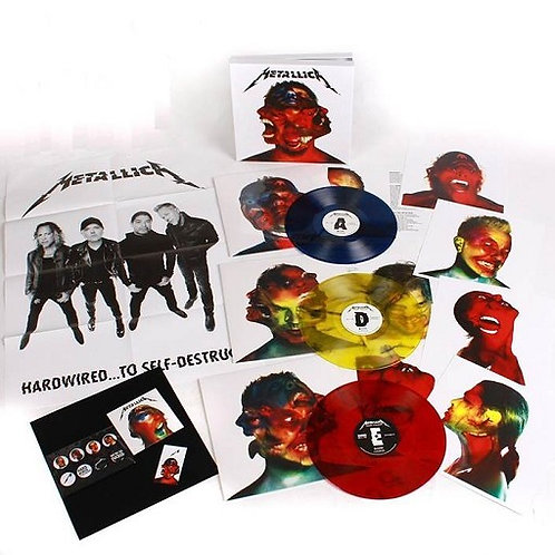 Metallica - Hardwired To Self-Destruct Blue&Yellow&Red Marble Vinyl Box Set 3LP