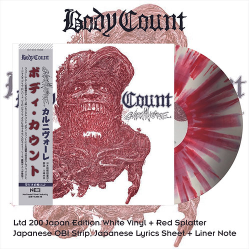 Body Count - Carnivoret White Vinyl with Red Splatter, Ltd 200