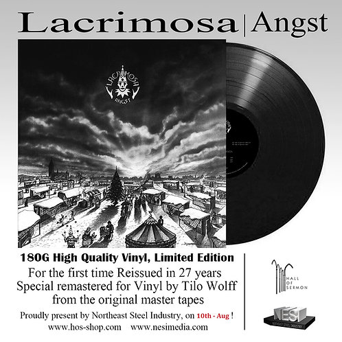 Lacrimosa - Angst Black Vinyl Ltd 1000