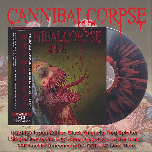 Cannibal Corpse - Violence Unimagined Ltd 180 Japan Version Black Vinyl + Red Sp