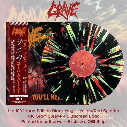 Grave - You'll Never See… Black Vinyl + Yellow/Red Splatter