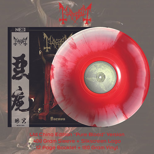 Mayhem - Daemon Ltd Pure Blood Version Red/White Swirl Vinyl