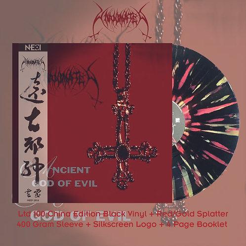 Unanimated - Ancient God of Evil Ltd 100 China Version Black + Red/Gold Splatter