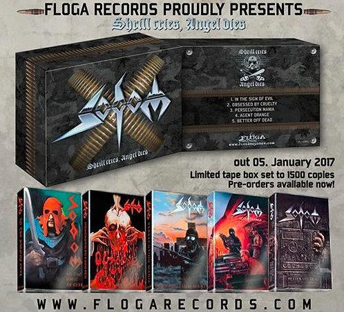 Sodom - Shrill Cries, Angel Dies Cassette Boxset 5 Tapes Ltd 1500