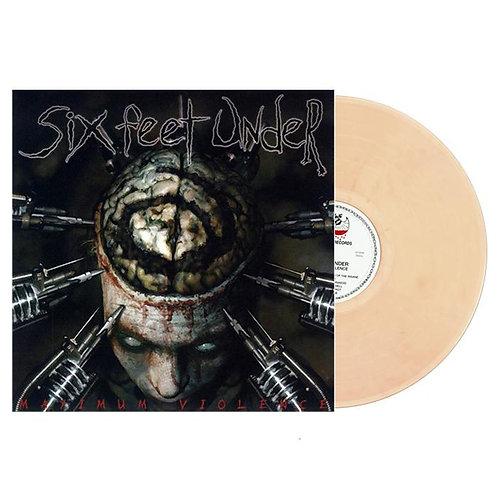 Six Feet Under - Maximum Violence Clear Bloody Skin Vinyl LP