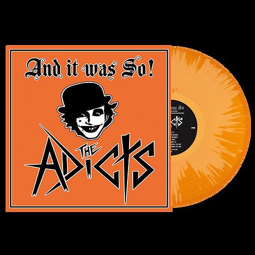 The Adicts - And It Was So! Orange/White Splatter Vinyl LP