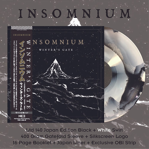 Insomnium - Winter's Gate Ltd 140 Japan Version Black + White Swirl Vinyl