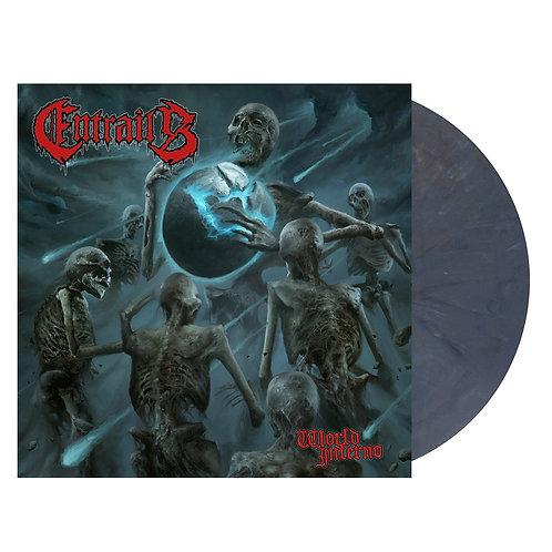 Entrails - World Inferno Blue/Grey Marble Vinyl LP