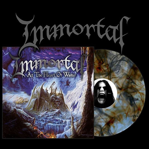 Immortal - At The Heart Winter Blue/Orange/Black Marble Vinyl LP
