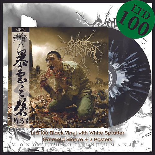 Cattle Decapitation - Monolith Of Inhumanity Ltd 100 Black Vinyl+White Splatter