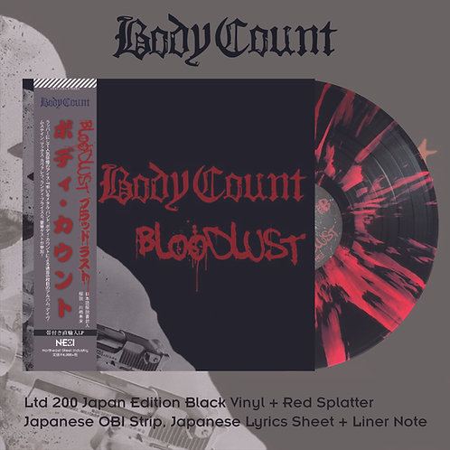Body Count - Bloodlust Black Vinyl with Red Splatter, Ltd 200