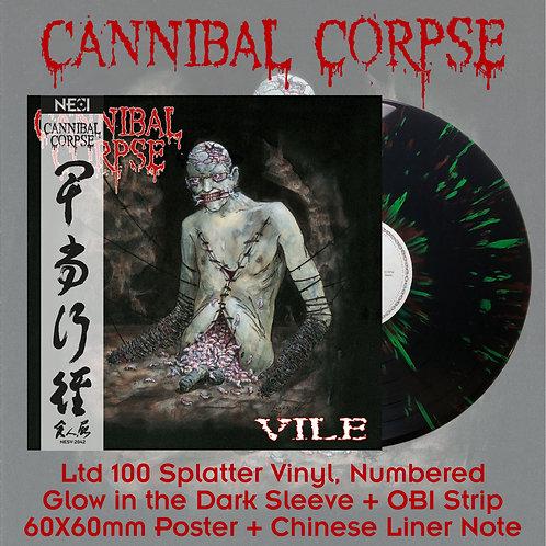 Cannibal Corpse - Vile Black Vinyl + Green/Red Splatter