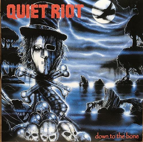 Quiet Riot - Down To The Bone Blue/Black Swirl Vinyl 2LP