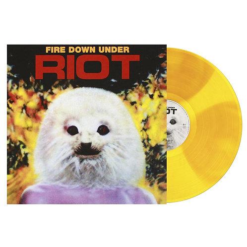 Riot - Fire Down Under Yellow /Orange Spots Vinyl LP