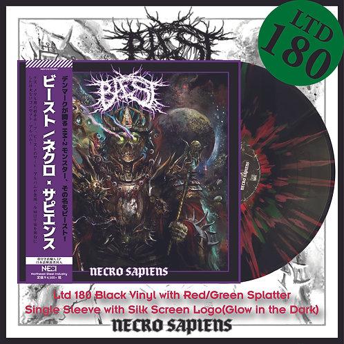 Bæst - Necro Sapiens Ltd 180 Black Vinyl+Red/Green Splatter