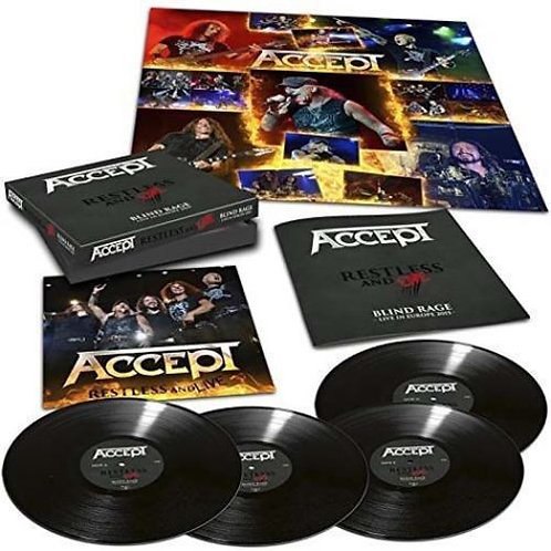 Accept - Restless And Live Black Vinyl 4LP
