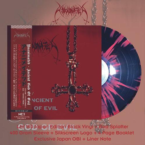 Unanimated - Ancient God of Evil Ltd 180 Japan Version Black +Red Splatter Vinyl