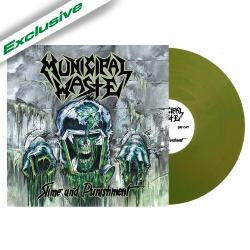 Municipal Waste - Slime And Punishment NB Anniversary Green Vinyl LP