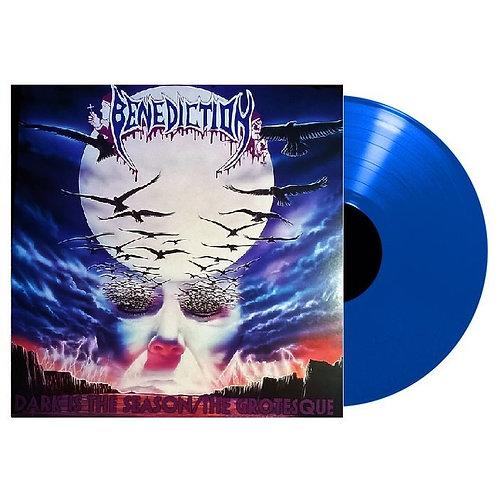 Benediction - Dark Is The Season / The Grotesque Blue Vinyl LP