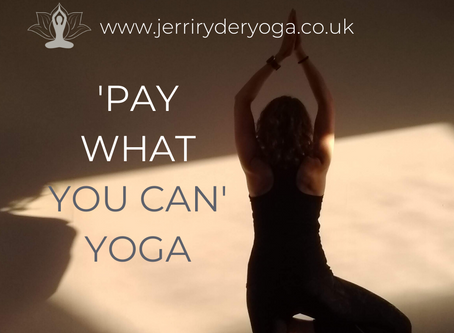 'Pay What You Can' YOGA