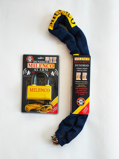 Dundrod Alarm & 12mm Chain 1.4m