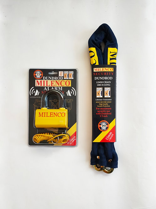 Dundrod Alarm & 12mm Chain 1m