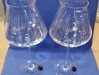 個性的なデザイン!シャトーバカラXL ワイングラス レッドスタンプ ペア
