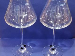 シャトーバカラ  XL  ワイングラス レッドスタンプ ペアに名入れ彫刻しました
