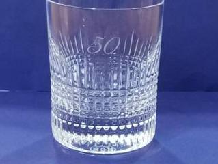バカラ ナンシー ロックグラスに名入れ彫刻しました