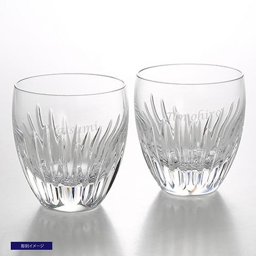 バカラ マッセナ ロックグラス Lサイズ  ペア 名入れ彫刻代込み