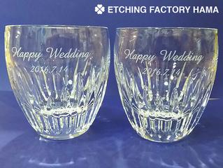 マッセナ ロックグラスをご結婚祝に。