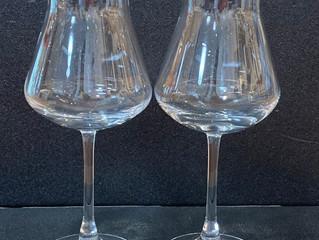 シャトーバカラ  ワイングラス ペアに名入れ彫刻しました
