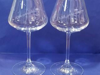 バカラ シャトーバカラ  ワイングラスに名入れ彫刻しました