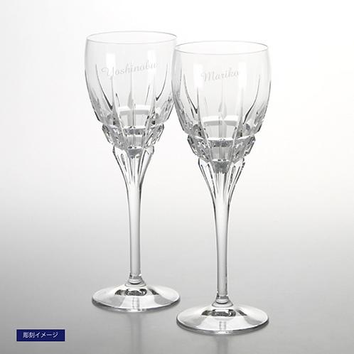 ダ・ヴィンチクリスタル カラーラ ワイン 2客セット 名入れ彫刻代込み