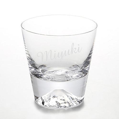 富士山グラス,Mt.Fuji glass,名入れ,名入れギフト,エッチング彫刻,プレゼント,田島硝子
