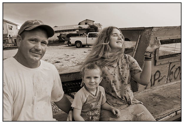 Oysterman Leroy Shiver and Family