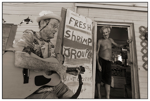 Fred Singing Gospel at his Fish House