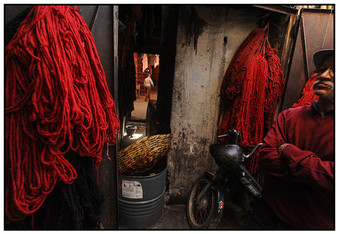 At the Wool Dyer's, Marrakech
