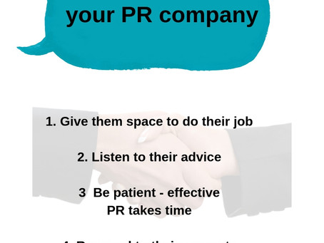 Five tips of how SMEs can get the most out of a PR professional