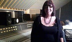 Inside a music studio