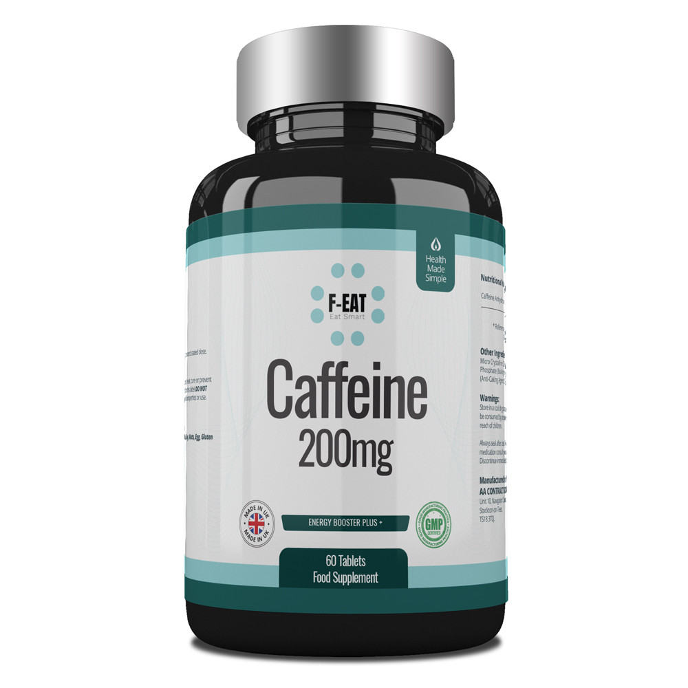 caffeine tablets 200mg pre workout and energy boosting