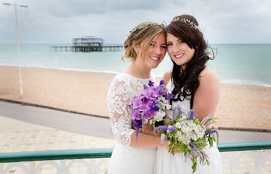 David Jones Photography | Gallery | Wedding Photographer | Alice and Emily | Wedding Day | Brighton Band Stand