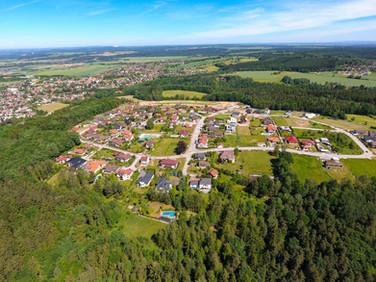 Letecký pohled - Kodetka, Hlincová Hora, České Budějovice
