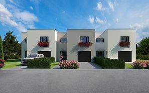 Borek, České Budějovice, rodinný, dům, komfort, vila, bydlení, prodej, novostavba, byt, moderní, řadový, exterér