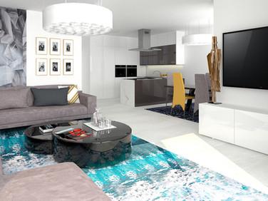 Borek RD Komfort obývací pokoj