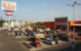 Retail Park Pribram, CPI, OBI, Tesco, parkoviště
