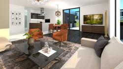 Vila LUX II obývací pokoj